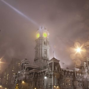 City Hall In Fog, Philadelphia