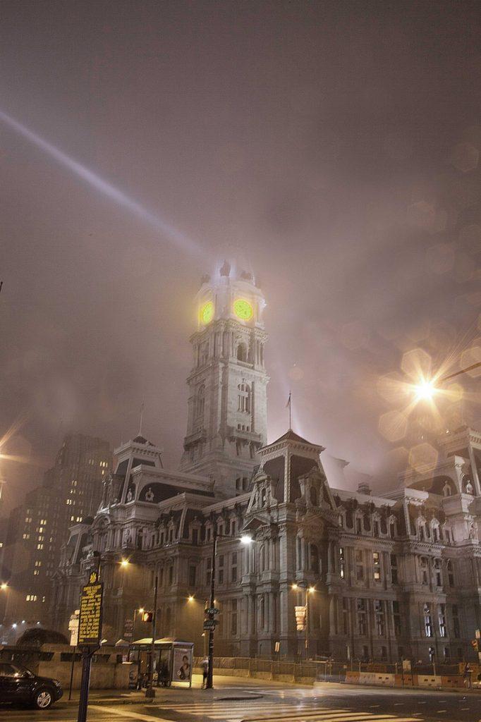 City Hall In Fog, Philadelphia