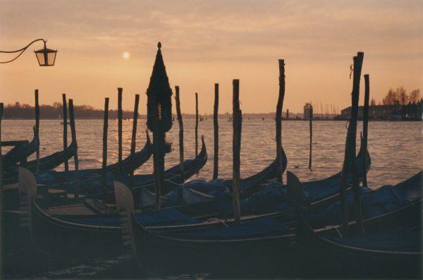 Lamplight and Gondola, Venice, Italy