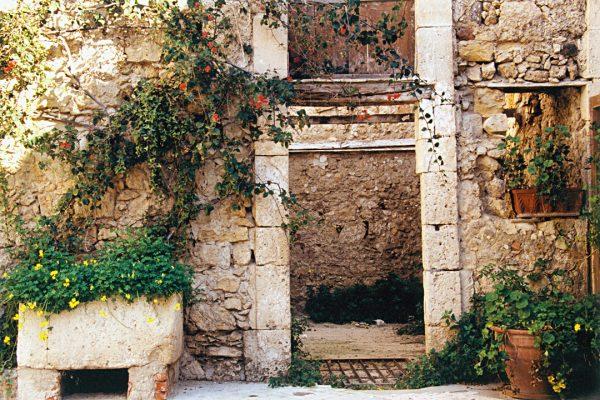 Planter And Doorway, Syracuse, Sicily