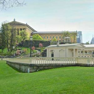 Fairmount Water Works, and the Philadelphia Museum of Art, Spring photograph