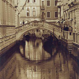 Venician Bridge and Canal, Venice Italy