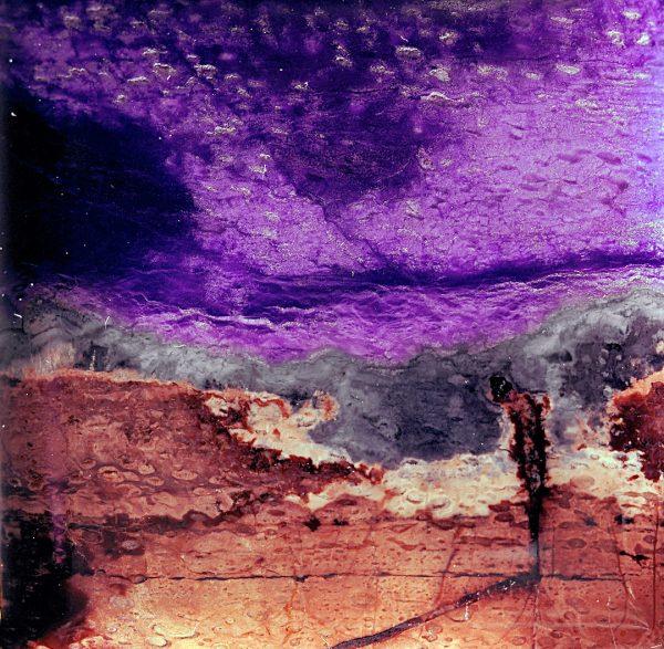 Figure in Landscape with Purple Sky, Imaginary Lndscape Series, Jasper stone