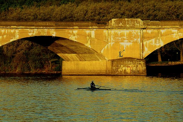 Early Morning On The River, Schuylkill River, Philadelphia, photograph