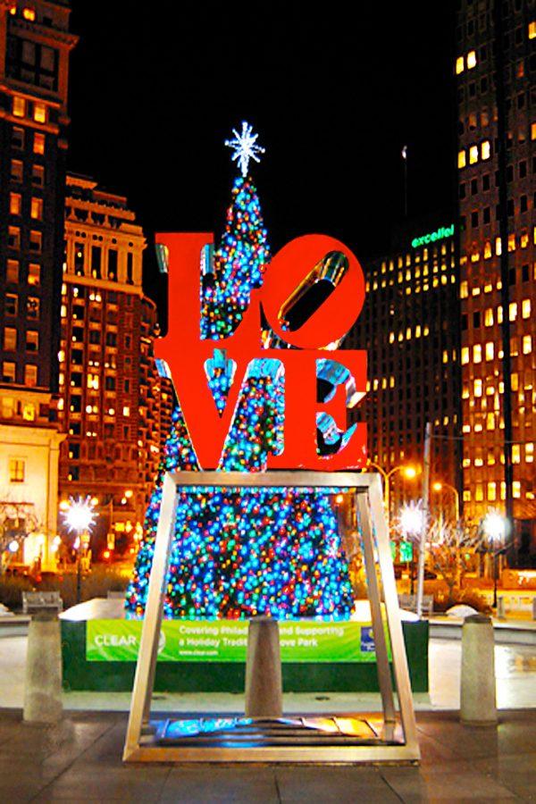 Love Sculpture, Christmas, Philadelphia