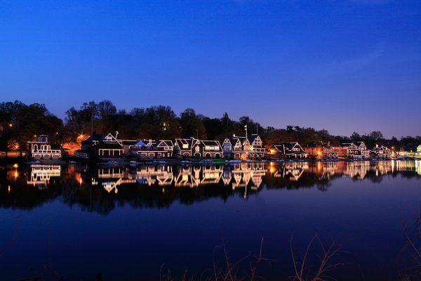 Boat House Row, Evening, Philadelphia, photograph