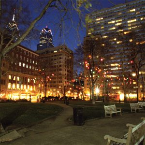 Liberty One And Two, Rittenhouse Square, Philadelphia, photograph