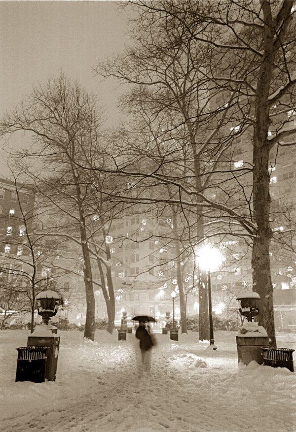 Twin Urns, Rittenhouse Square, Philadelphia, photograph