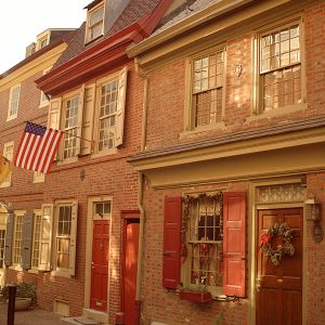 Elfreth's Alley, Historic Philadelphia, photograph