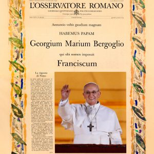 Pope Francis's front page election Announcement