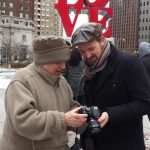 Armond Scavo with a student during a Photography Classes in Philadelphia