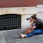 Student photographing during photography class, Philadelphia