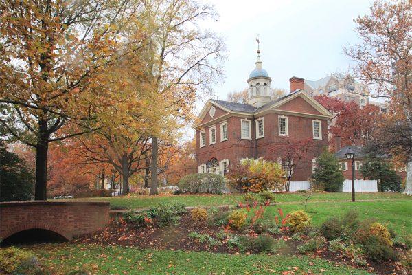 Carpenter's Hall Landscape, Philadelphia, photograph